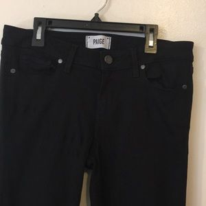 Paige Black skinny Jeans size29 Flawless LIKE NEW